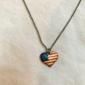 Heart USA Necklace